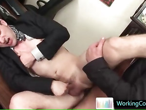 Cameron getting fucked real hard at job interview by