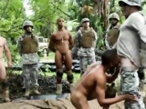 Army gay oral sex Jungle plow fest