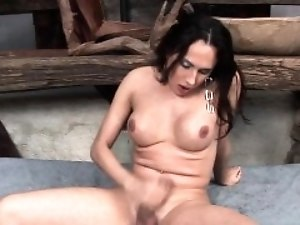 Bubble Butt tranny and her fantasies
