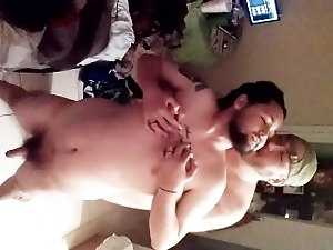 sexy chub fucking  his hot cub husband