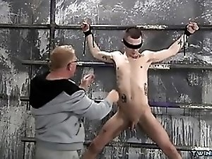 Tattoo twinks domination and cumshot