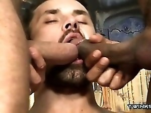 Latin son threesome and cumshot