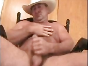 Sexy Daddy Cowboy Carolina Jim Jerks Off and Handjob Cum