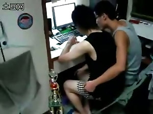 Amazing sex video featuring two Asian gays who are studying in front of the computer while having some fun kissing and groping each other. I just had